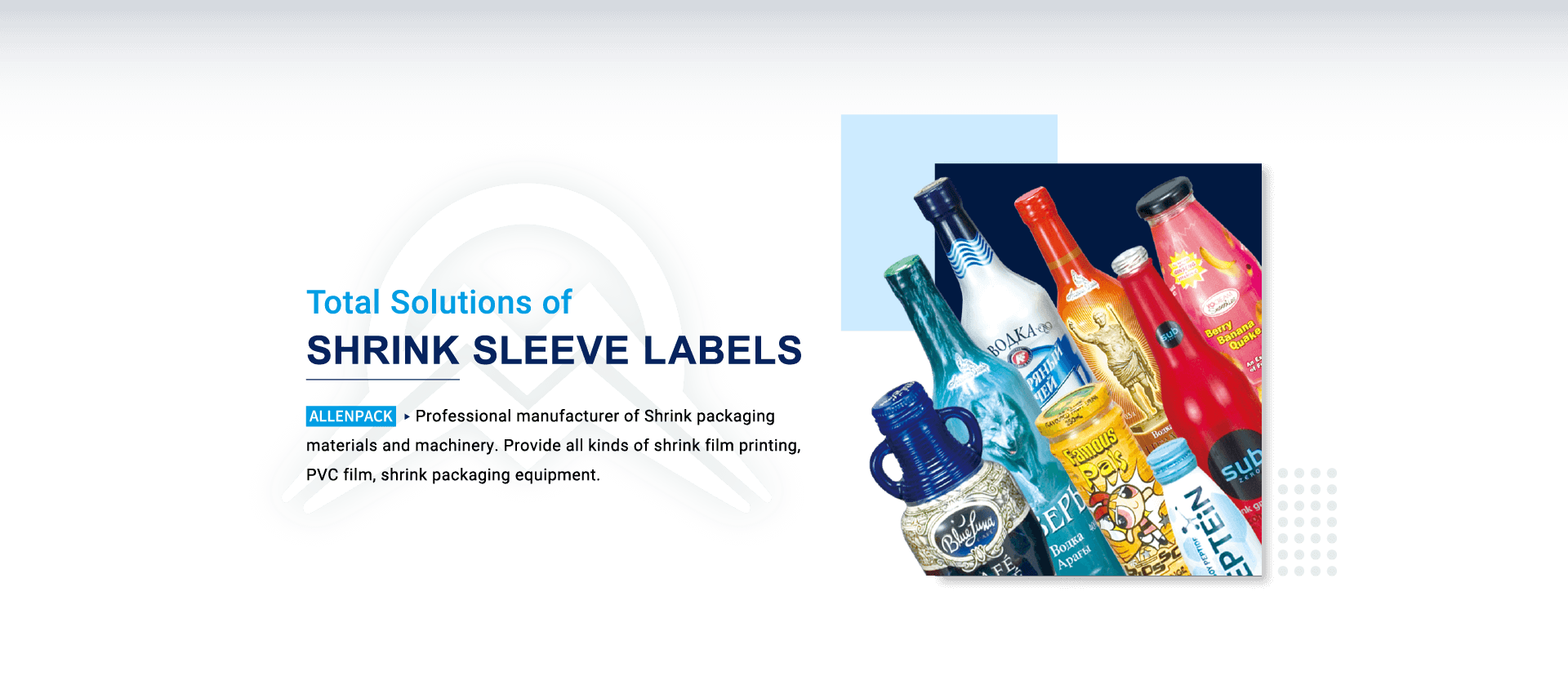 shrink film, shrink sleeve, shrink label, sleeve machine